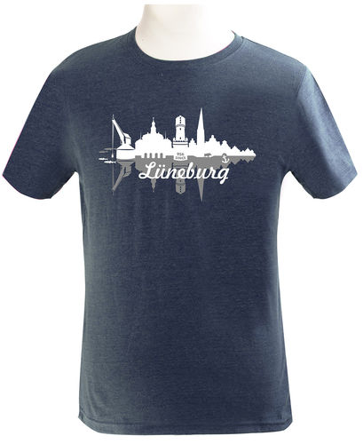 "Herren-T-Shirt ""Double Skyline"" hell"